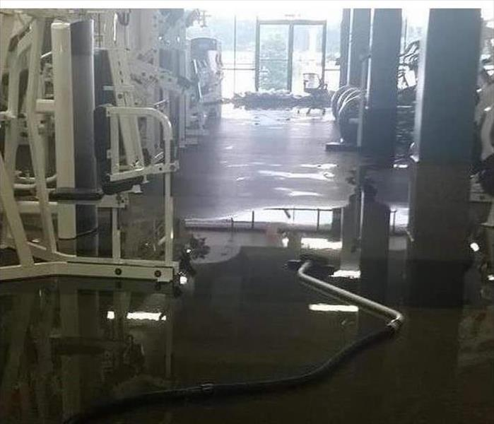 Flooding in a Workout Center Before