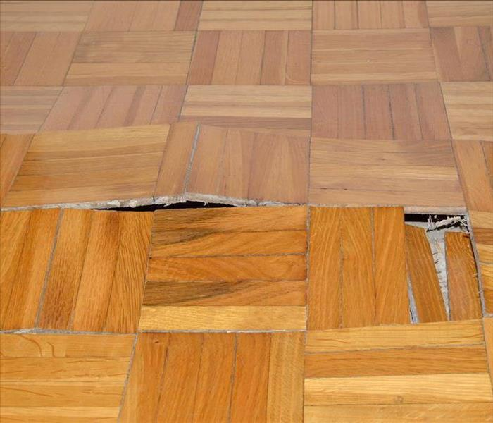 Swelling wooden floor